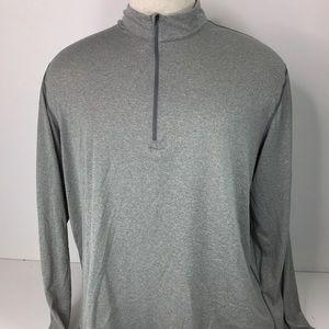 EMS Techwick Gray Long Sleeve 1/4 Zip Shirt